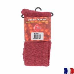 Collant opaque chiné t1/2 rouge - 66