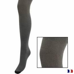 Collant aspect chiné t1/2 noir - 66