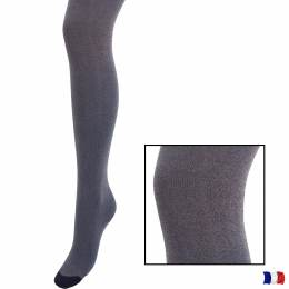 Collant aspect chiné t1/2 bleu - 66