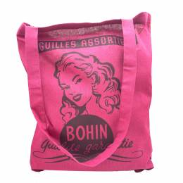 Sac tote bag coton 38x42cm rose marlène - 70