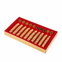 Coffret dés à coudre laiton doré or fin x 80 - 70