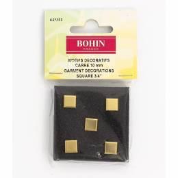 Motif carre doré 10 mm s5 - 70