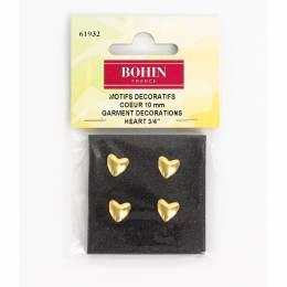 Motif décoration coeur 10mm doré - 70