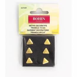 Motif triangle doré 10 mm s6 - 70