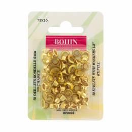 Oeillet rondelle 4mm doré sans jeu - 70
