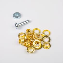 Oeillets 11mm dorés - 70