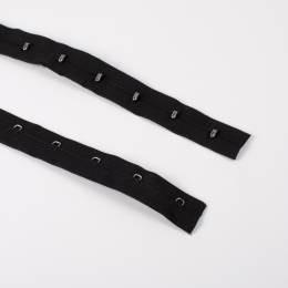 Agrafe corset/ruban 10m noir - 70