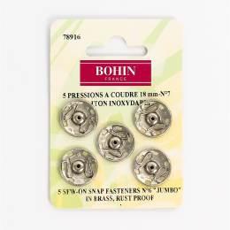Bouton pressionx5 18mm argent7 - 70