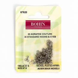 Agrafe blanche s/coque n°8 -blister- - 70