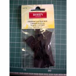 Pression plast/ruban noir 5 cm - 70