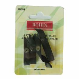 Attache bretelles x4 noir - 70