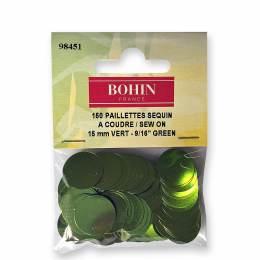 Sequin paillette 15mm vert x150u - 70