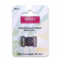 Agrafe maillot bain argent 16mm - 70