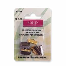 Fermeture bracelet 15mm doré/nickelé/bronze - 70
