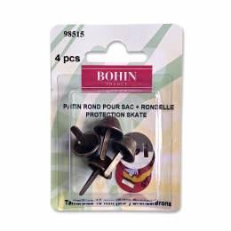 Patin rond pour sac + rondelle 15mm bronze - 70