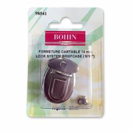 Attache cartable 14 mm rivet 6mm argent - 70