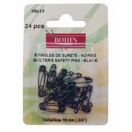 Epingle de sûreté à ressort noires 19 mm x 24 - 70