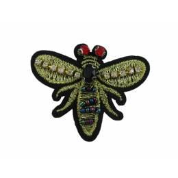 Bijou à coudre abeille brodée or - 6 x 5 cm - 70