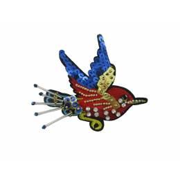 Bijou à coudre oiseau gm - 13 x 12 cm - 70