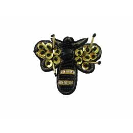 Bijou à coudre papillon doré- 6,5 x 6 cm - 70