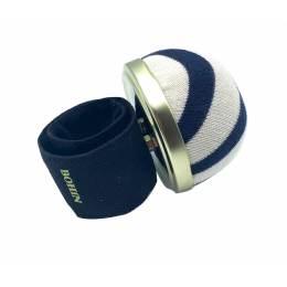 Bracelet porte épingles ajustable marinière - 70