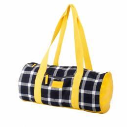 Sac tricot tartan jaune - 45 x 22 cm - 70