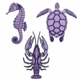 """Patch thermo """"marée haute"""" violet x 3 - 70"""