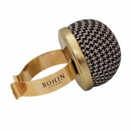 Bracelet porte épingles doré-pied de poule - 70
