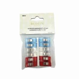 Pince magique bleu/blanc/rouge x12 - 70