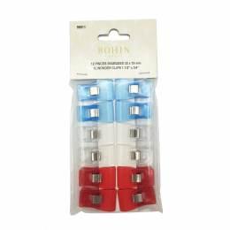 Pince magique bleu/blanc/rouge 32 x18 x12pièces - 70