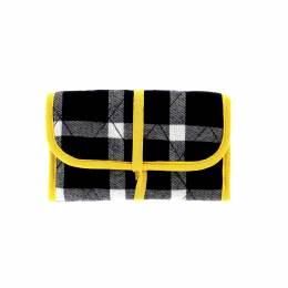 """Trousse """"scarlett"""" tartan noire/jaune - 70"""