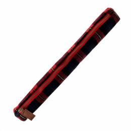 Etui tricot tartan - 45x5cm - rouge/marron - 70
