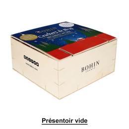 Présentoir bois vide + fronton crackers Noël - 70