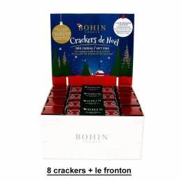 8 Crackers + fronton de présentoir de Noël - 70