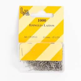 Épingle laiton nickelé 10mm -1000- - 70