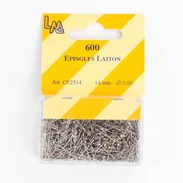 Épingle laiton nickelé 14mm-600- - 70