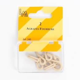 Agrafes fourrure guipées beige - 70