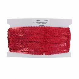 Galon paillette 6 mm (23m) laser rouge - 70