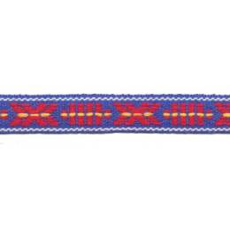 Ruban jacquard lin coton 10mm - 77