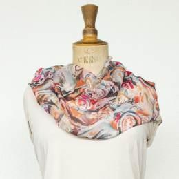 Écharpe étamine douce fleur fuschia 35x160 cm - 80