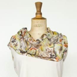 Écharpe étamine douce fleur rouille 35x160 cm - 80