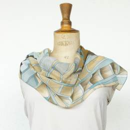 Écharpe étamine soft cubisme beige 35x160 cm - 80