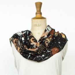 Étole d'étamine cachemire marron 45x180 cm - 80