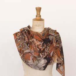 Echarpe poly confort 45x180 marron - 80