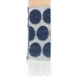 Écharpe rond tissé 15% laine beige 30x180 cm - 80