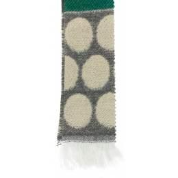 Écharpe rond tissé 15% laine vert 30x180 cm - 80