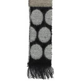 Écharpe rond tissé 15% laine noir 30x180 cm - 80