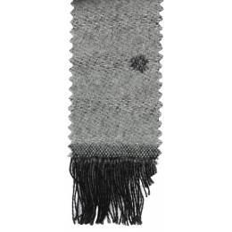 Écharpe lurex pois 15% laine gris 30x180 cm - 80