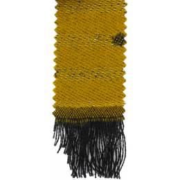 Écharpe lurex pois 15% laine moutarde 30x180 cm - 80