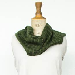 Écharpe lurex pois 15% laine vert 30x180 cm - 80